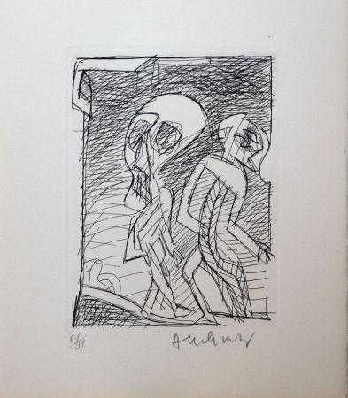 Eau-Forte Alechinsky - Poèmes à peine poèmes
