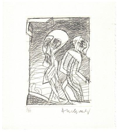 Eau-Forte Alechinsky - '' Poèmes à peine poèmes ''