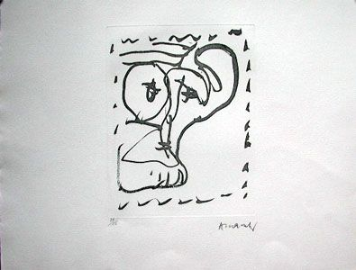 Eau-Forte Alechinsky - Poèmes À Voir