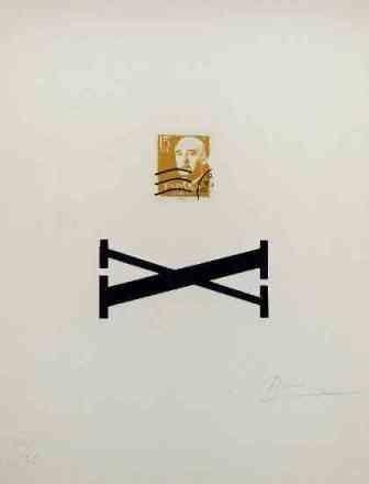 Sérigraphie Brossa - Poema Visual - Franco