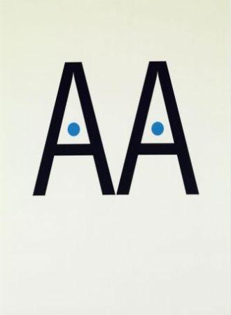 Lithographie Brossa - Poema visual. 1988