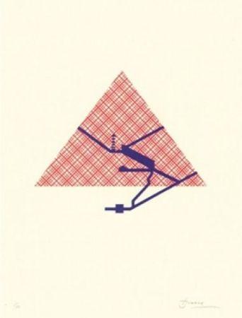Lithographie Brossa - Poema visual 25