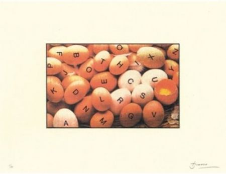 Lithographie Brossa - Poema visual 27