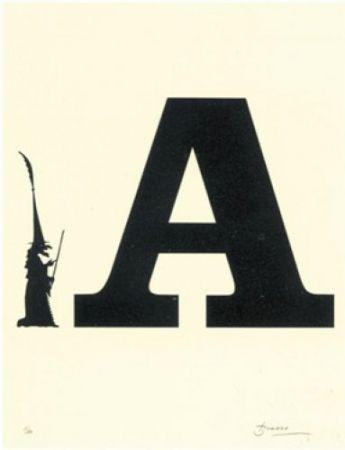 Lithographie Brossa - Poema visual 5
