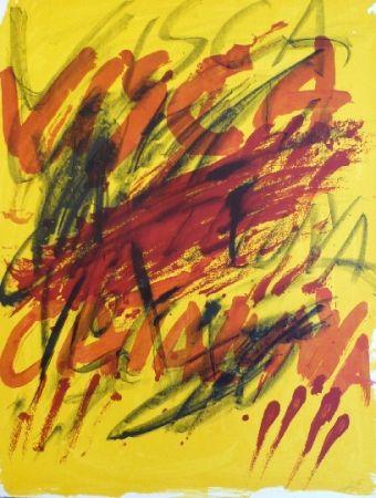 Lithographie Tàpies - Poems 6