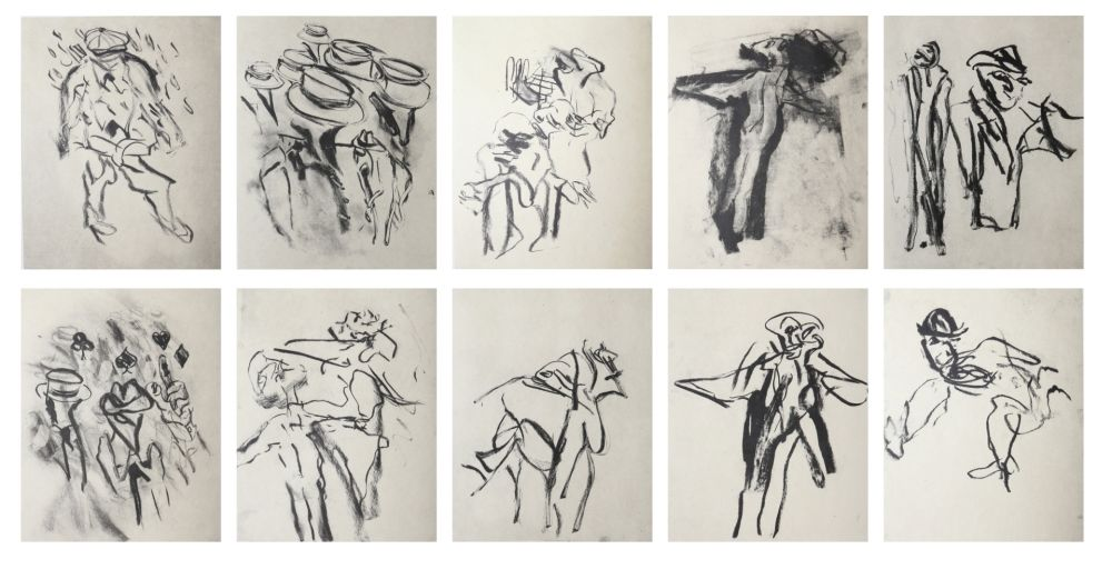 Lithographie De Kooning - Poems by Frank O'Hara