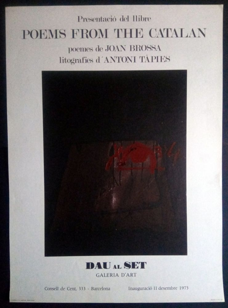 Affiche Tàpies - Poems from the Catalan - Tàpies / Brossa 1973