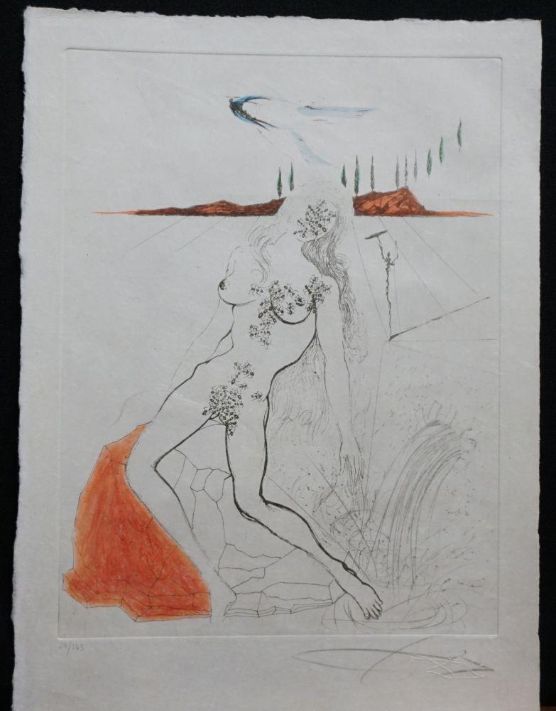 Gravure Dali - Poems Secrets Nude at The Fountain