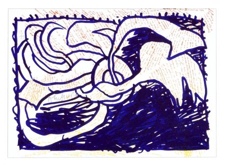 Lithographie Alechinsky - Pointes et Feutres (1)