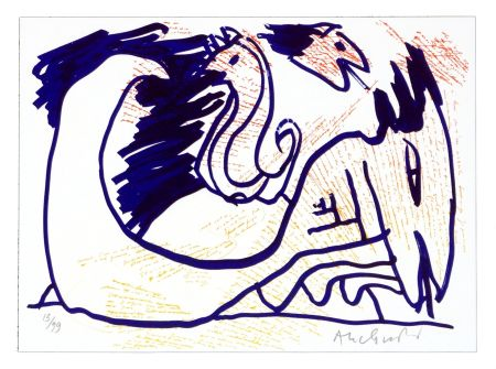 Lithographie Alechinsky - Pointes et Feutres (4)