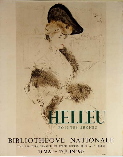 Lithographie Helleu - Pointes  Seches  Bibliotheque Nationale