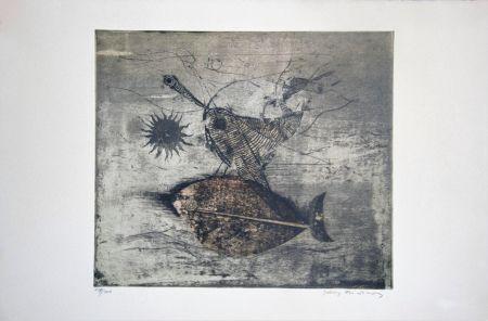 Eau-Forte Et Aquatinte Friedlaender - Poisson et oiseau