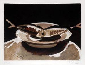 Gravure Braque - Poissons