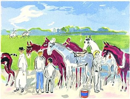 Lithographie Van Dongen - Polo or Deauville
