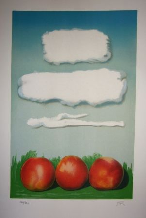 Lithographie Ray - Pommes