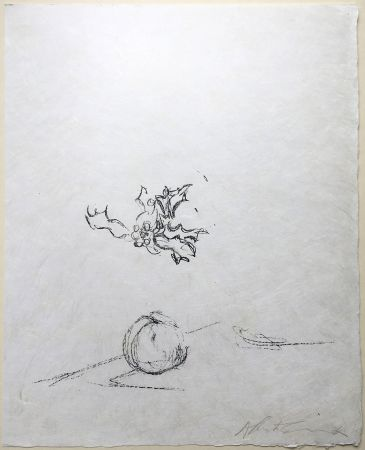 Lithographie Giacometti - Pommme Endormie. Lithographie Originale Signée