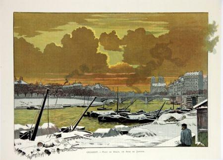 Lithographie Grasset - Pont de Sully