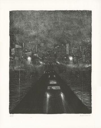 Lithographie Brecht Evens - Pont des Rigoles