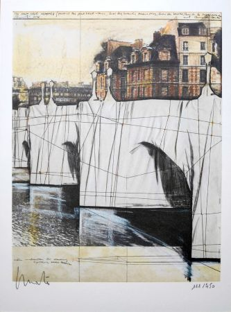 Lithographie Christo - Pont Neuf Wrapped