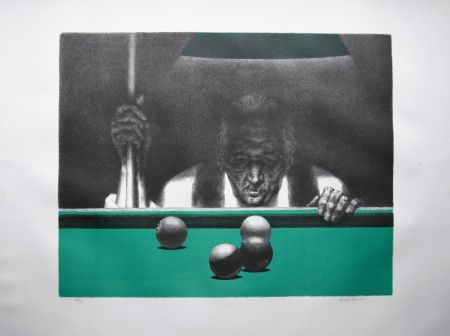 Lithographie Hirsch - Pool player