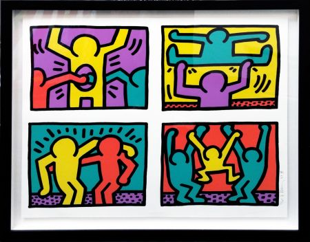 Sérigraphie Haring - POP SHOP QUAD I