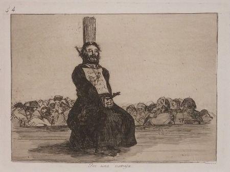 Gravure Goya - POR UNA NAVAJA