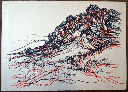 Lithographie Guttuso - Porcella delle Ginestre