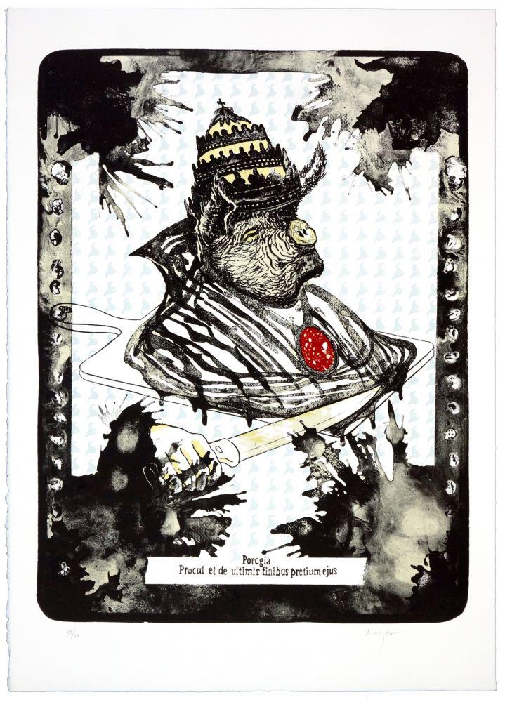 Lithographie Aritza - Porcgia