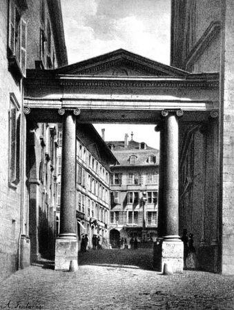 Lithographie Fontanesi - Porte de la Treille