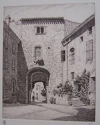 Gravure Strang - Porte des Ormeaux, Cordes