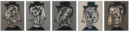 Lithographie Saura - Portfolio Dora Maar Visitada I, II, III, IV, V