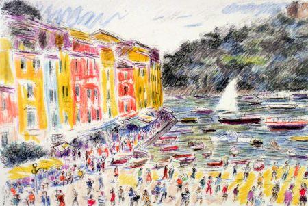 Lithographie Cascella - Portofino