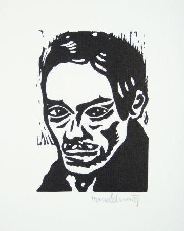 Linogravure Schmitz - Porträt Seiwert