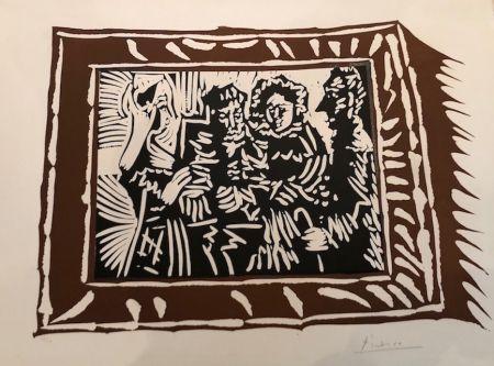 Linogravure Picasso - Portrai de famille ingresque IV