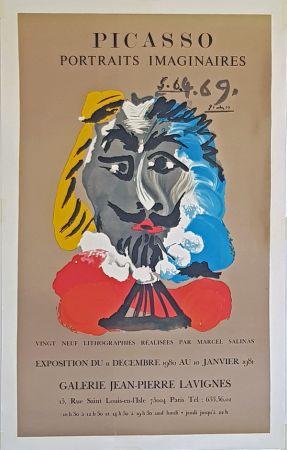 Lithographie Picasso - Portrais Imaginaires