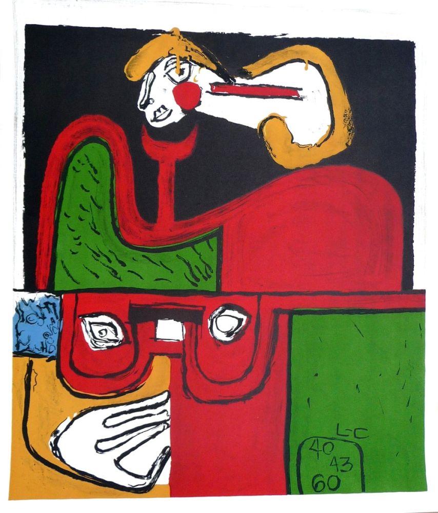 Lithographie Le Corbusier - Portrait
