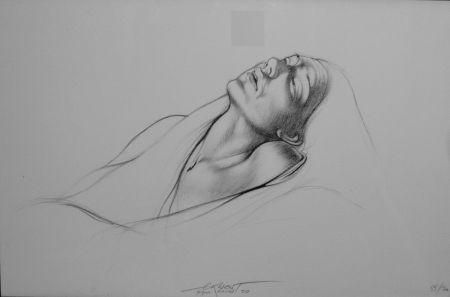 Lithographie Pignon-Ernest - Portrait