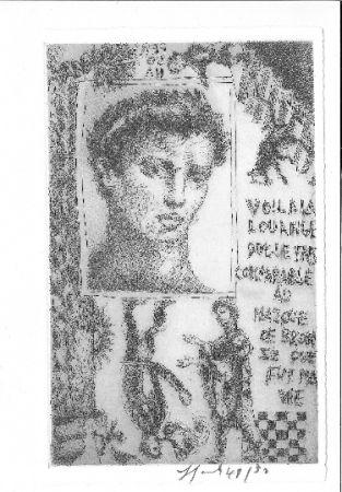Eau-Forte Et Aquatinte Garouste - Portrait