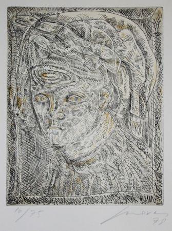 Eau-Forte Et Aquatinte Cuevas - Portrait