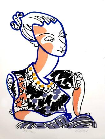 Lithographie Lapicque - Portrait