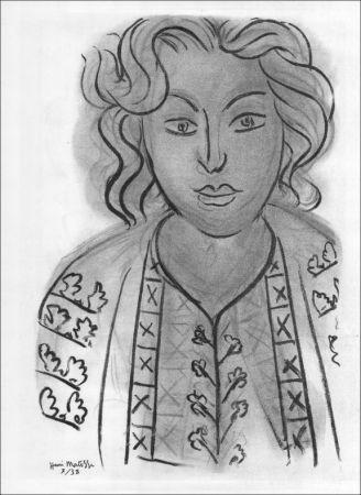 Lithographie Matisse - Portrait. 1938.
