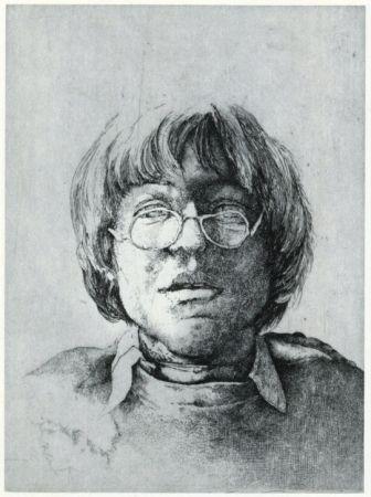 Gravure Desmazières - Portrait Aux Lunettes