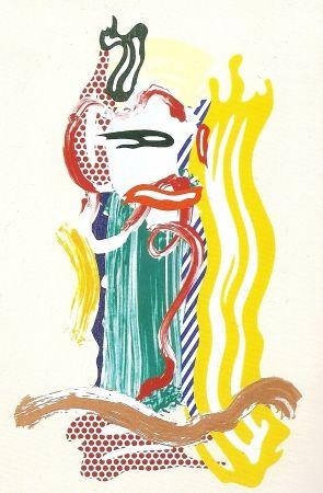 Sérigraphie Lichtenstein - Portrait, Brushstrokes