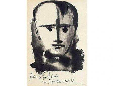 Aquatinte Picasso - PORTRAIT D HOMME A LA MECHE