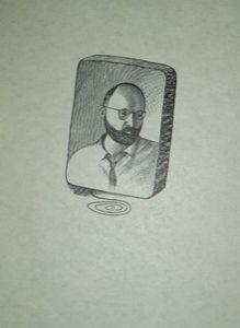 Gravure Sur Bois Topor - Portrait d'Alechinsky
