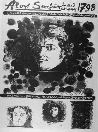 Lithographie Sutherland - Portrait D'aloyis Senefelder