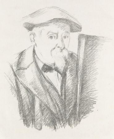 Lithographie Cezanne - Portrait de Cézanne par lui-même, c. 1898