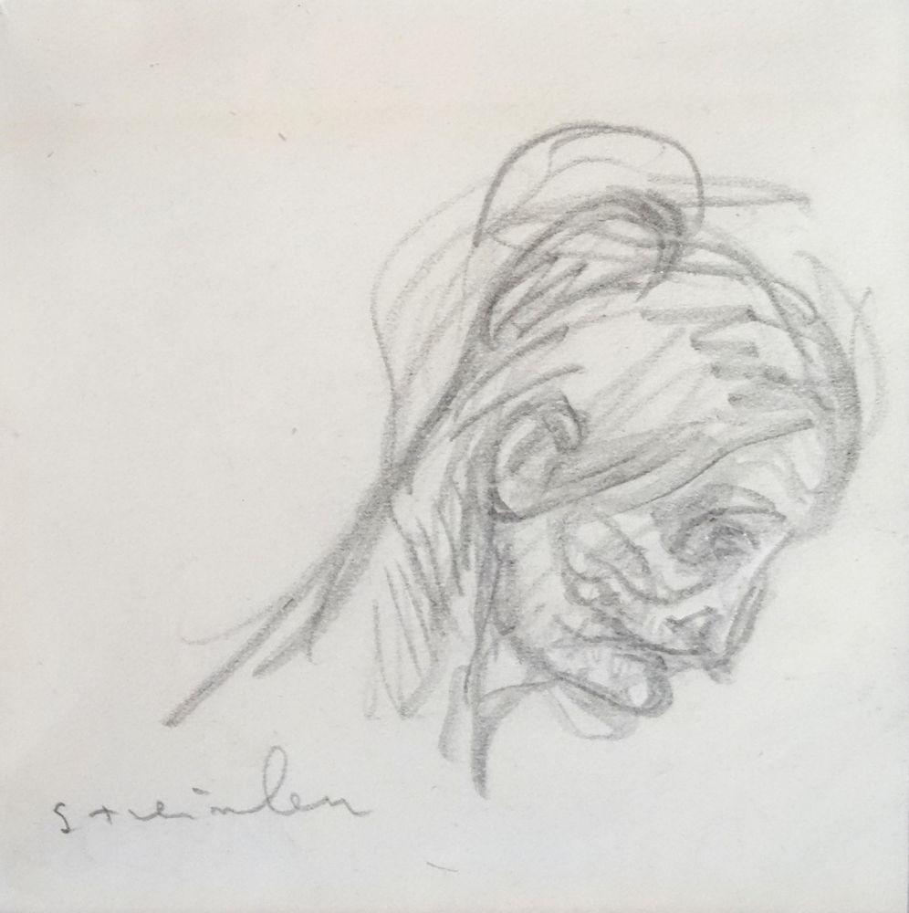 Aucune Technique Steinlen - Portrait de femme