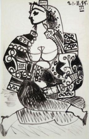 Lithographie Picasso - Portrait De Femme
