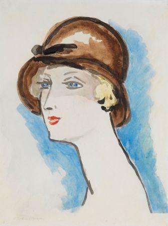 Lithographie Van Dongen - Portrait de Femme, 1925-30